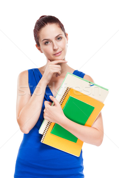 Pensive young student. Stock photo © lithian