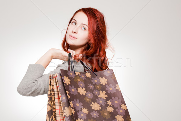 Fashionable young shopper. Stock photo © lithian