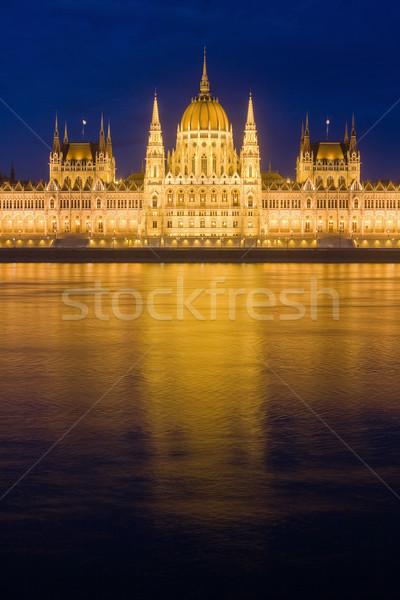 Ungherese parlamento bella storico costruzione cielo Foto d'archivio © lithian