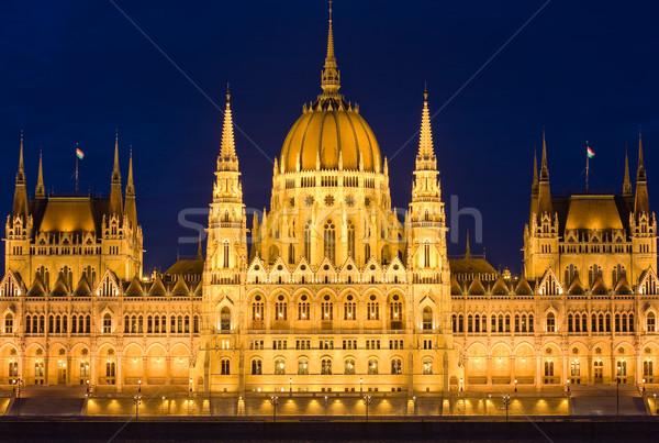 Alto pormenor tiro húngaro parlamento fachada Foto stock © lithian