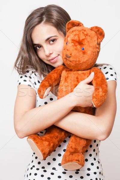 Teddy amor retrato bonitinho jovem Foto stock © lithian