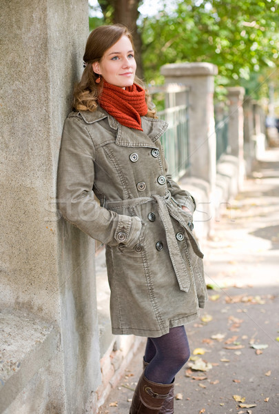 Fall fashion girl. Stock photo © lithian