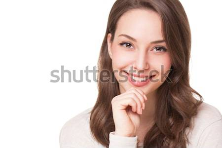 Portraits charmant jeunes expressive brunette beauté Photo stock © lithian