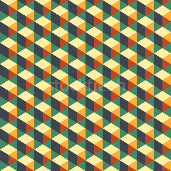 Abstract meetkundig kleurrijk spectrum patroon achtergrond Stockfoto © LittleCuckoo