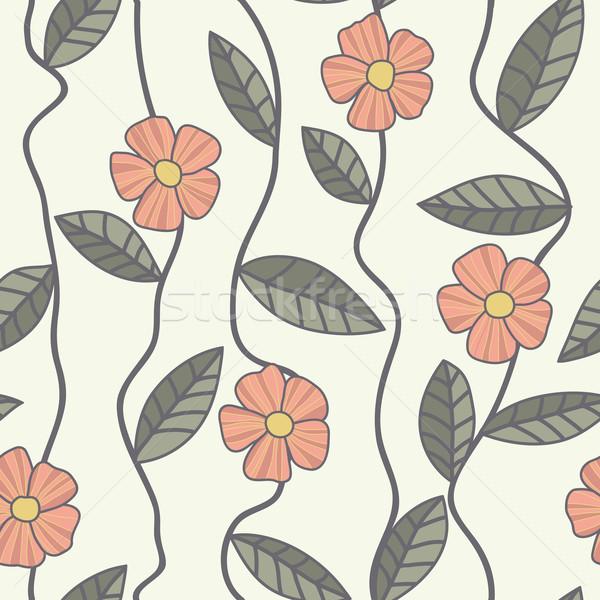 Floral vetor padrão sem costura rabisco flores Foto stock © LittleCuckoo