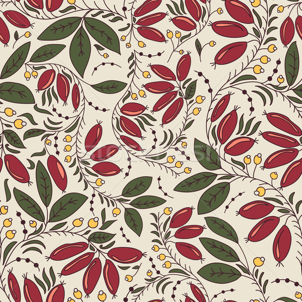 seamless texture barberry  on a beige background Stock photo © LittleCuckoo