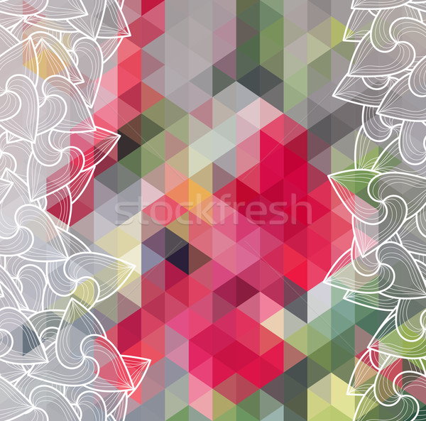 Absztrakt háromszög mértani tarka eps10 textúra Stock fotó © LittleCuckoo