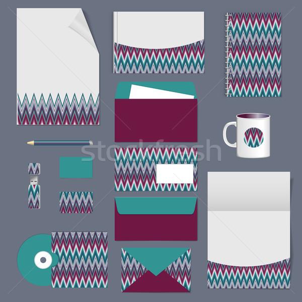 Corporate identiteit schrijfbehoeften sjabloon ontwerp documentatie Stockfoto © LittleCuckoo