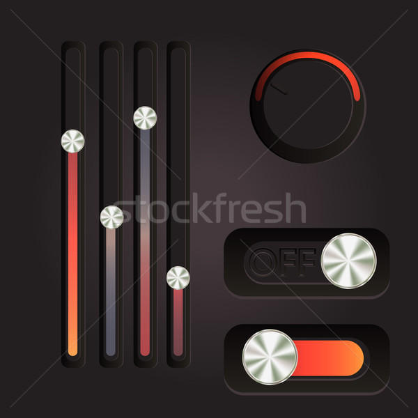 User interface power slider buttons Stock photo © LittleCuckoo
