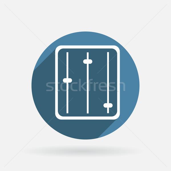 Ecualizador círculo azul icono sombra signo Foto stock © LittleCuckoo