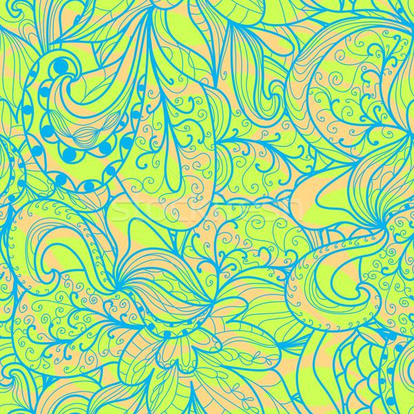 抽象的な シームレス パターン フローラル 波状の テクスチャ ストックフォト © LittleCuckoo