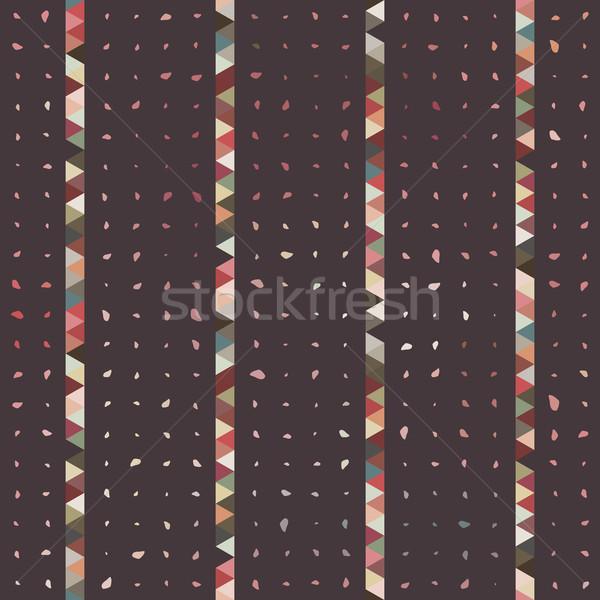 Abstrakten Dreieck Punkt swirl Wirbel Muster Stock foto © LittleCuckoo