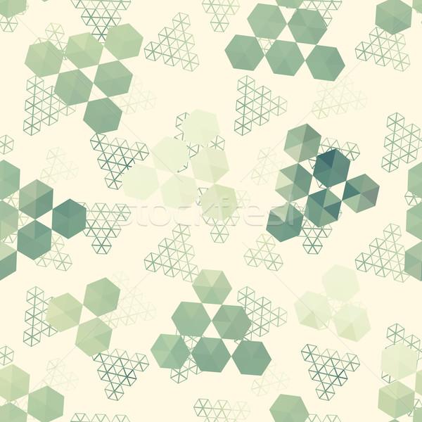 幾何学模様 六角形 三角形 フル 色 シームレス ストックフォト © LittleCuckoo