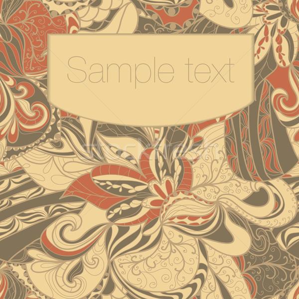 Abstract seamless hand-drawn pattern. Stock photo © LittleCuckoo