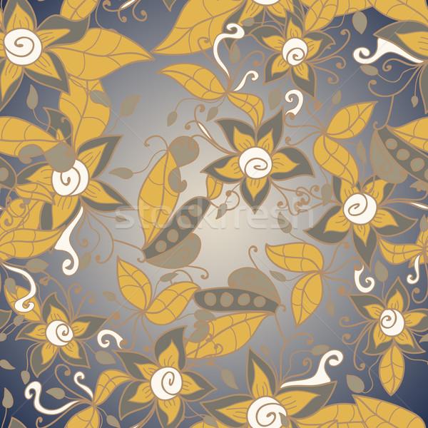 Abstract bloempatroon vector naadloos textuur bloem Stockfoto © LittleCuckoo