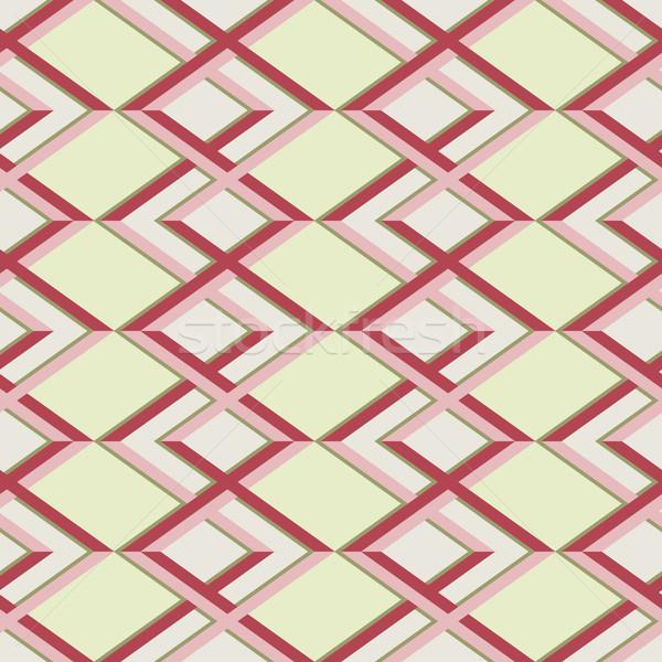 zig zag vector pattern. ethnic seamless ornament Stock photo © LittleCuckoo