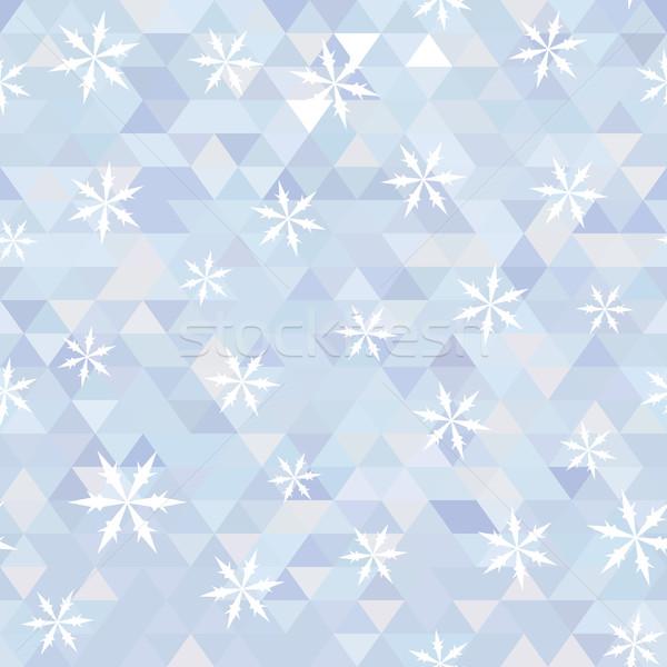 三角形 スノーフレーク 抽象的な 雪 ベクトル 冬 ストックフォト © LittleCuckoo