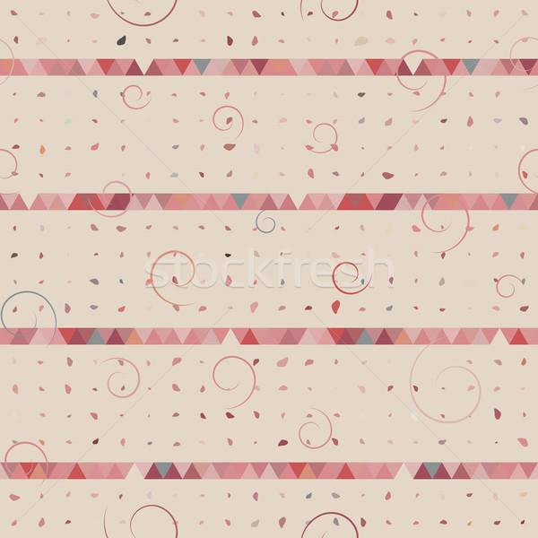 Foto stock: Abstrato · triângulo · ponto · redemoinho · padrão