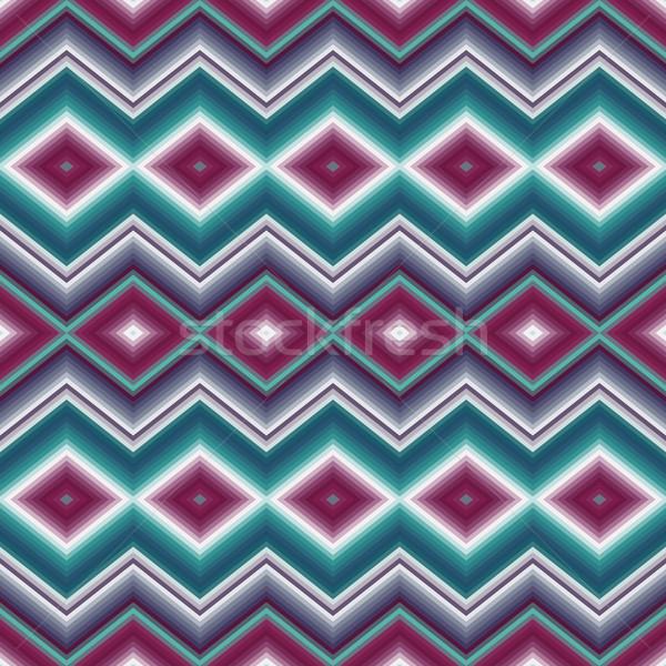 シームレス 民族 飾り ジグザグ 抽象的な ダイヤモンド ストックフォト © LittleCuckoo