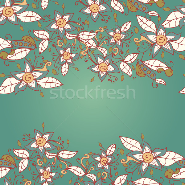 Abstract modello di fiore vettore senza soluzione di continuità texture fiore Foto d'archivio © LittleCuckoo