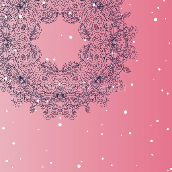 Mandala ornament Geometric circle element Stock photo © LittleCuckoo