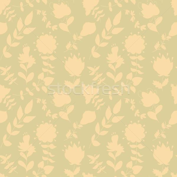 Neutralny kwiatowy tapety roślin wiry Zdjęcia stock © LittleCuckoo