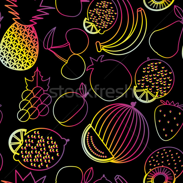 Fruits image fruits baies néon Photo stock © LittleCuckoo