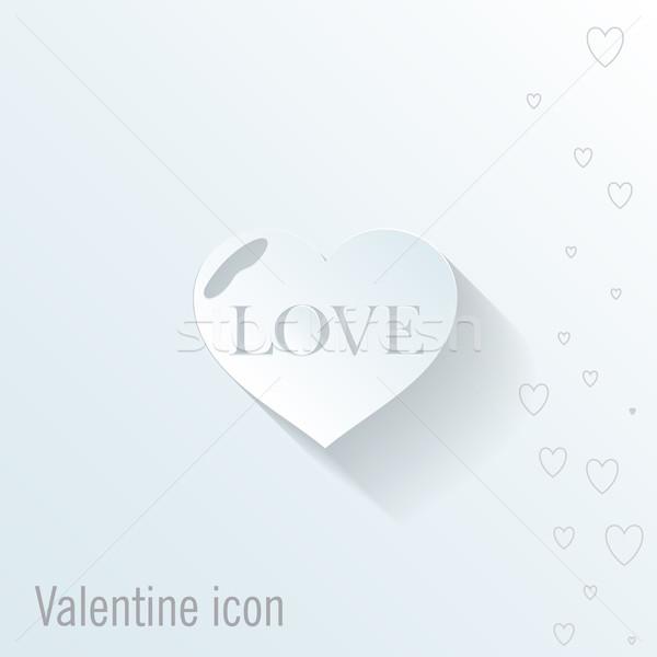 Coração ícone valentine cartão feliz dia Foto stock © LittleCuckoo