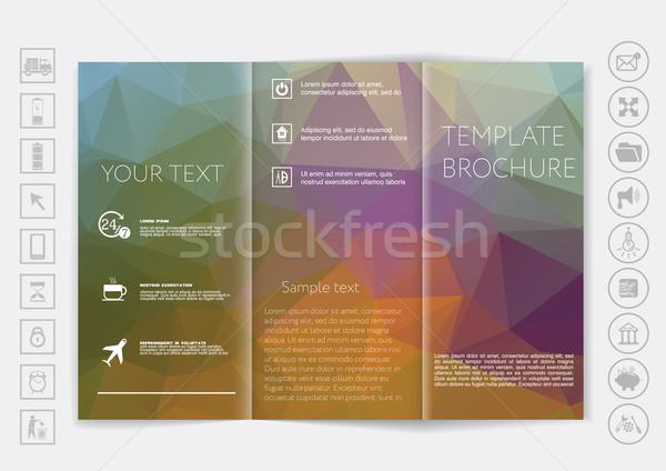 Folheto para cima vetor projeto bokeh corporativo Foto stock © LittleCuckoo