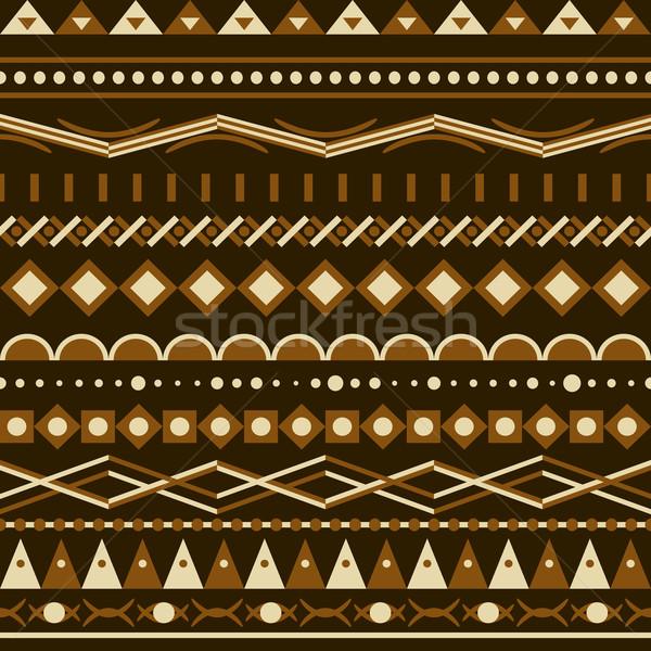 Geometria wektora wzór trójkąt bezszwowy ozdoba Zdjęcia stock © LittleCuckoo