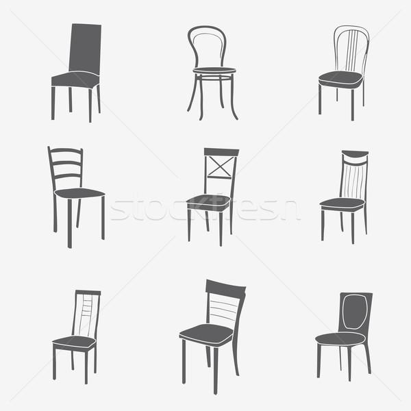 Cadeira símbolo mobiliário negócio casa Foto stock © LittleCuckoo