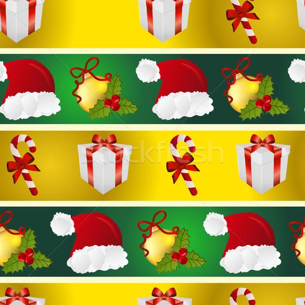 Сток-фото: Новый · год · шаблон · Hat · подарок · рождественская · елка