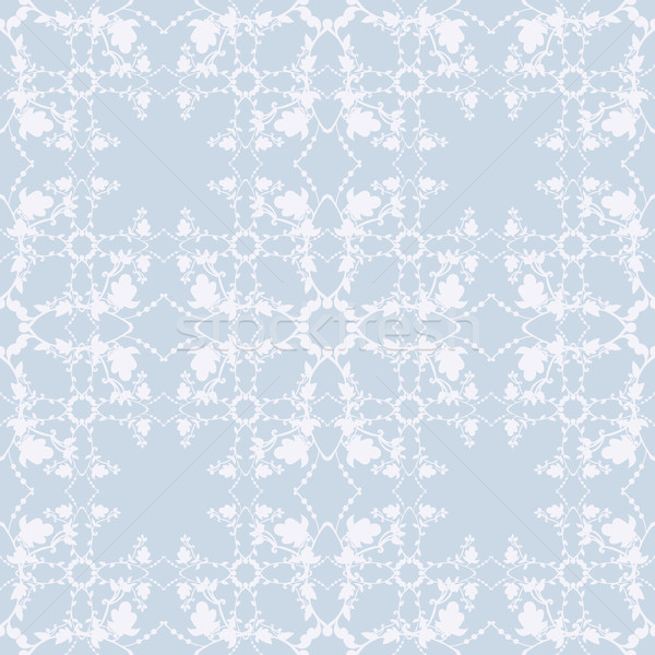 neutral blue floral background. swirl and curve Stock photo © LittleCuckoo