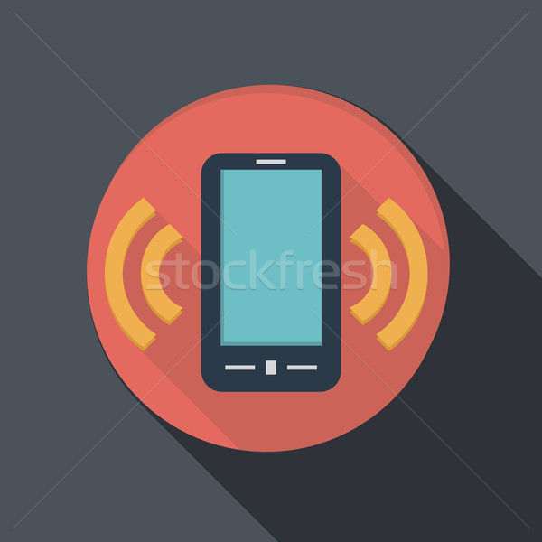 paper flat icon, a ringing phone, the call Stock photo © LittleCuckoo