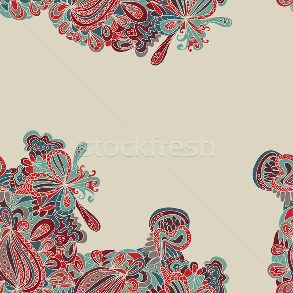 Abstrato sem costura fronteira padrão superfície textura Foto stock © LittleCuckoo