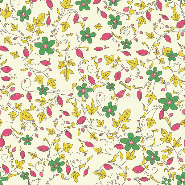 barberry pattern. seamless floral texture with berries Stock photo © LittleCuckoo
