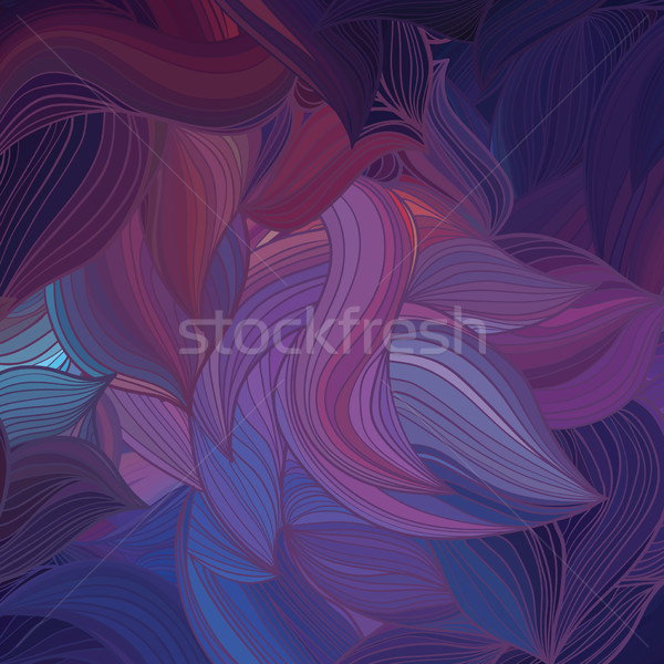 Vektor absztrakt hullám minta levél háttér nyár Stock fotó © LittleCuckoo