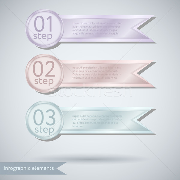 Infographic ribbon Concept Stock photo © LittleCuckoo