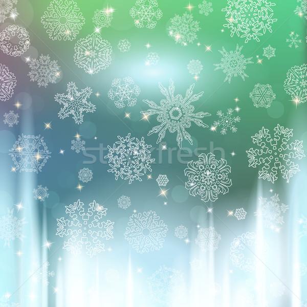 Capodanno Blur fiocchi di neve party neve spazio Foto d'archivio © LittleCuckoo