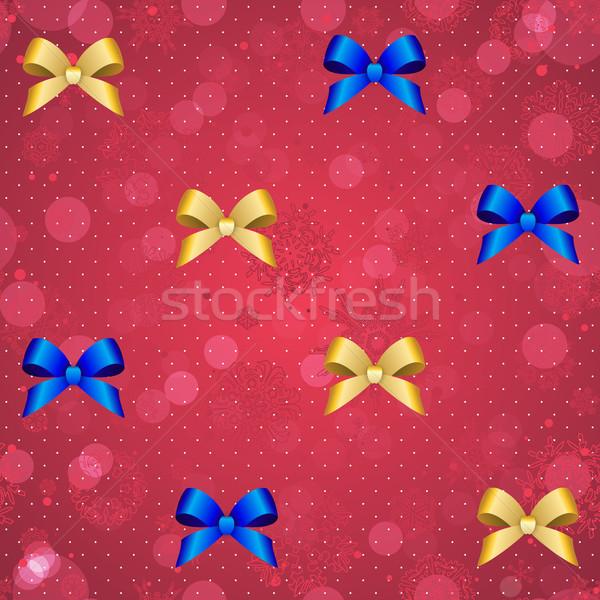 Yılbaşı Noel duvar kağıdı yay şerit Stok fotoğraf © LittleCuckoo