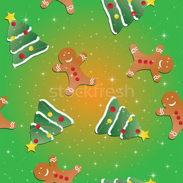 ストックフォト: エンドレス · クリスマス · テンプレート · パターン