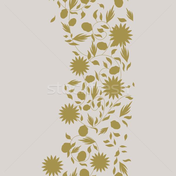 Girasole fiore senza soluzione di continuità silhouette fiori natura Foto d'archivio © LittleCuckoo