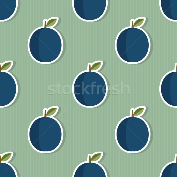 Ameixa padrão sem costura textura maduro Foto stock © LittleCuckoo