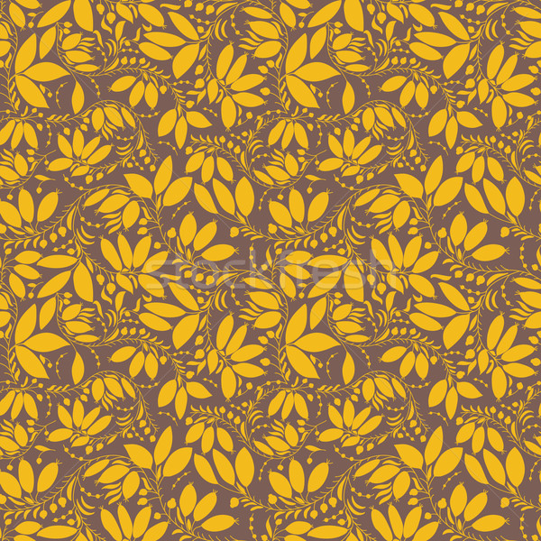 barberry seamless pattern. silhouette of berry or plants Stock photo © LittleCuckoo