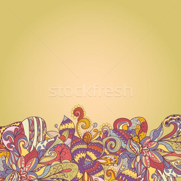 抽象的な 波 花弁 波 工場 ストックフォト © LittleCuckoo