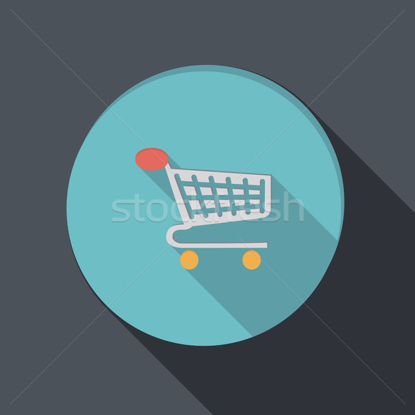 paper flat icon. cart online store Stock photo © LittleCuckoo