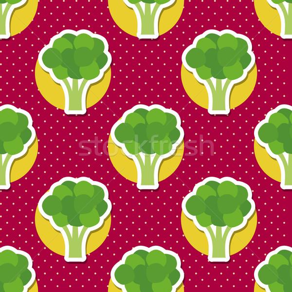 Broccoli pattern senza soluzione di continuità texture maturo verde Foto d'archivio © LittleCuckoo