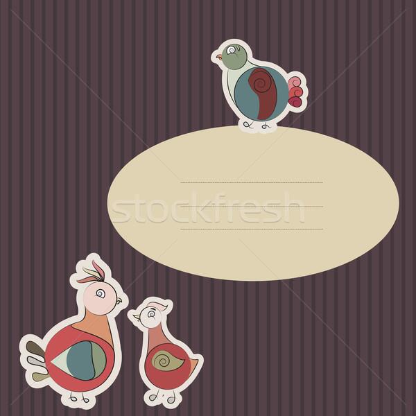 Carta Turchia uccello piccione piccolo sfondo Foto d'archivio © LittleCuckoo
