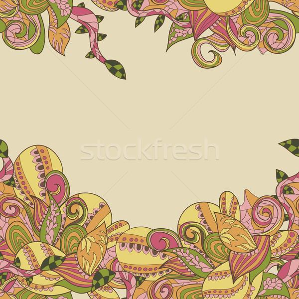 Confine abstract pattern ornamento primavera moda Foto d'archivio © LittleCuckoo