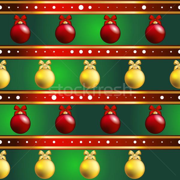 Сток-фото: Новый · год · шаблон · рождественская · елка · игрушками · текстуры · аннотация